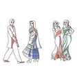 indian fashion set vector image