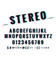 modern stylized stereoscopic stereo vector image