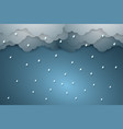 rain background paper art style vector image