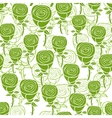 Romantic pattern with abstract green roses vector image