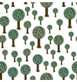 seamless pattern of geometric trees vector image
