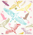 seamless wallpaper pattern with birds vector image