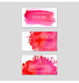 Set of business cards with watercolor background vector image