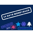 14 Days Moneyback Rubber Stamp vector image