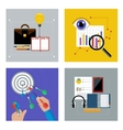 Concept set for business vector image