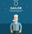 Profession Concept Sailor Flat Design Concepts for vector image