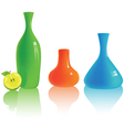 set of different colorful vases vector image vector image