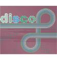 retro disco background vector image