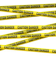 Caution and danger yellow tape vector image