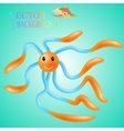 Abstract humor funny squid vector image