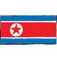 abstract north korea flag or banner vector image