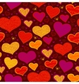 Bright seamless pattern with hearts in circles vector image