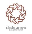 circle arrow brown design symbol icon vector image