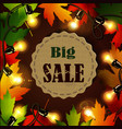 maple leaf frame for seasonal sales vector image