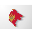 Montenegro map with shadow effect vector image