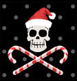 Pirate christmas vector image