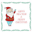santa claus cartoon character christmas and vector image