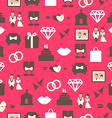 Seamless pattern with wedding equipment vector image