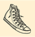 with sneakers vector image