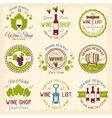 Wine Shop Colored Emblems vector image