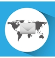 concept globe message envelope social media vector image