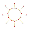Sun Symbol Made from Matches vector image vector image