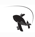 Airplane isolated vector image