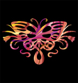 rainbow butterfly in vector image vector image