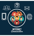 internet communication design vector image