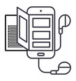 bookaudiosmartphone line icon sign vector image