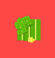 bundle of cash and coins colored on vector image