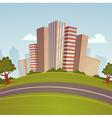 Cartoon Cityscape vector image