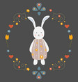 cute bunny character for cards t-shirts easter vector image