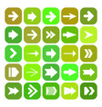 icon set with arrows vector image