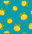 seamless pattern melon on azure background vector image