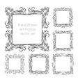 hand drawn art frames vector image vector image