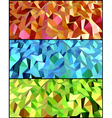 Collection of Abstract backgrounds with triangle vector image vector image