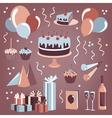 Set of celebration design elements vector image