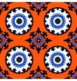 Suzani seamless ethnic pattern vector image