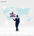 Happy independence day 4th of July Businessman vector image vector image