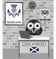 Scotland Tourist Information vector image vector image