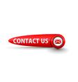contact us icon design vector image