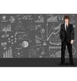 Business man sketch background vector image