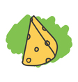 Cartoon doodle cheese vector image