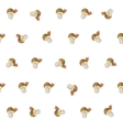 cute cartoon autumn pattern with white mushrooms vector image
