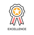 excellence graphic icon vector image