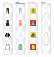 exclusive textiles atelier and other web icon in vector image