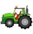 Farm tractor vector image