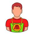 man in uniform icon cartoon vector image