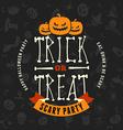 Retro Vintage Happy Halloween Badge Night Party vector image